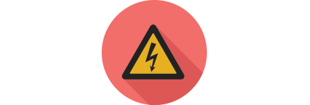 Electricity warning icon